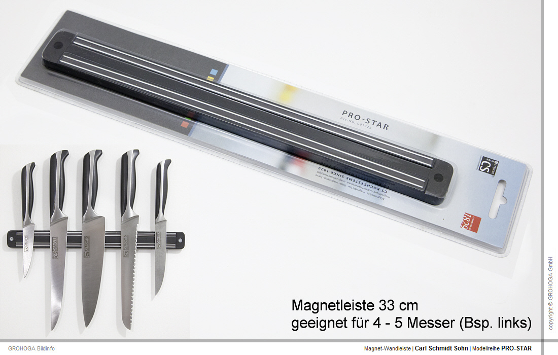 carl schmidt sohn premium messerset messer magnetleiste ebay. Black Bedroom Furniture Sets. Home Design Ideas