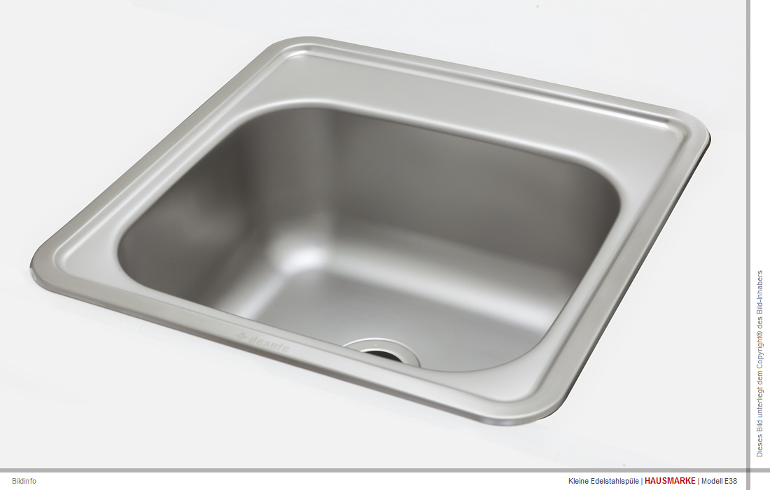 Gut gemocht E38 | Edelstahl Spülbecken klein Edelstahlspüle Einbau Waschbecken RB24