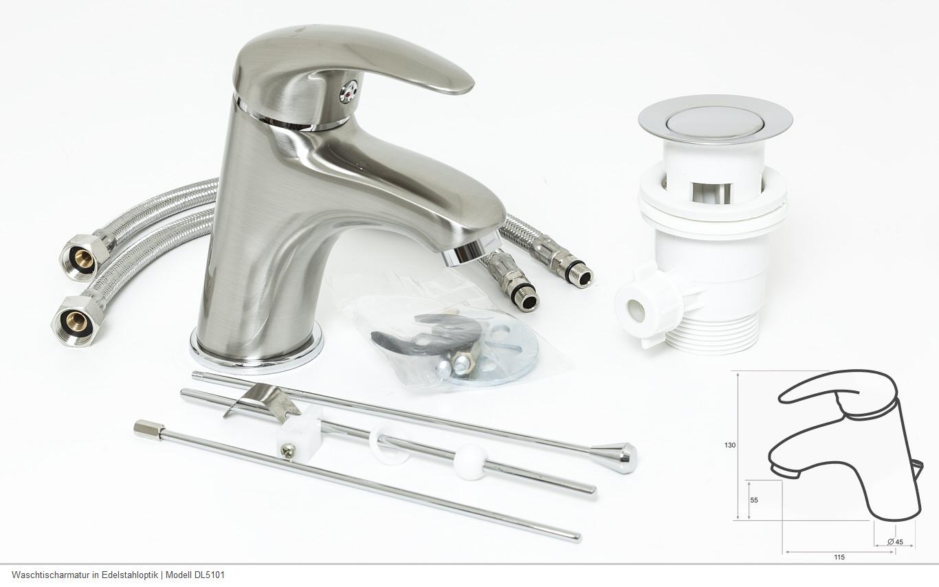 Waschtischarmatur bad armatur design finish edelstahl for Design artikel shop