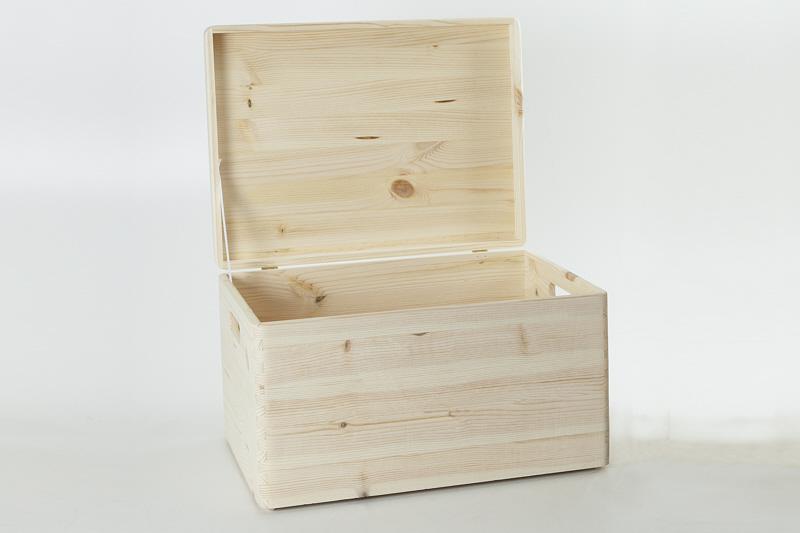 holzfee holzkiste 40 x 30 x 24 aufbewahrungsbox deckel. Black Bedroom Furniture Sets. Home Design Ideas