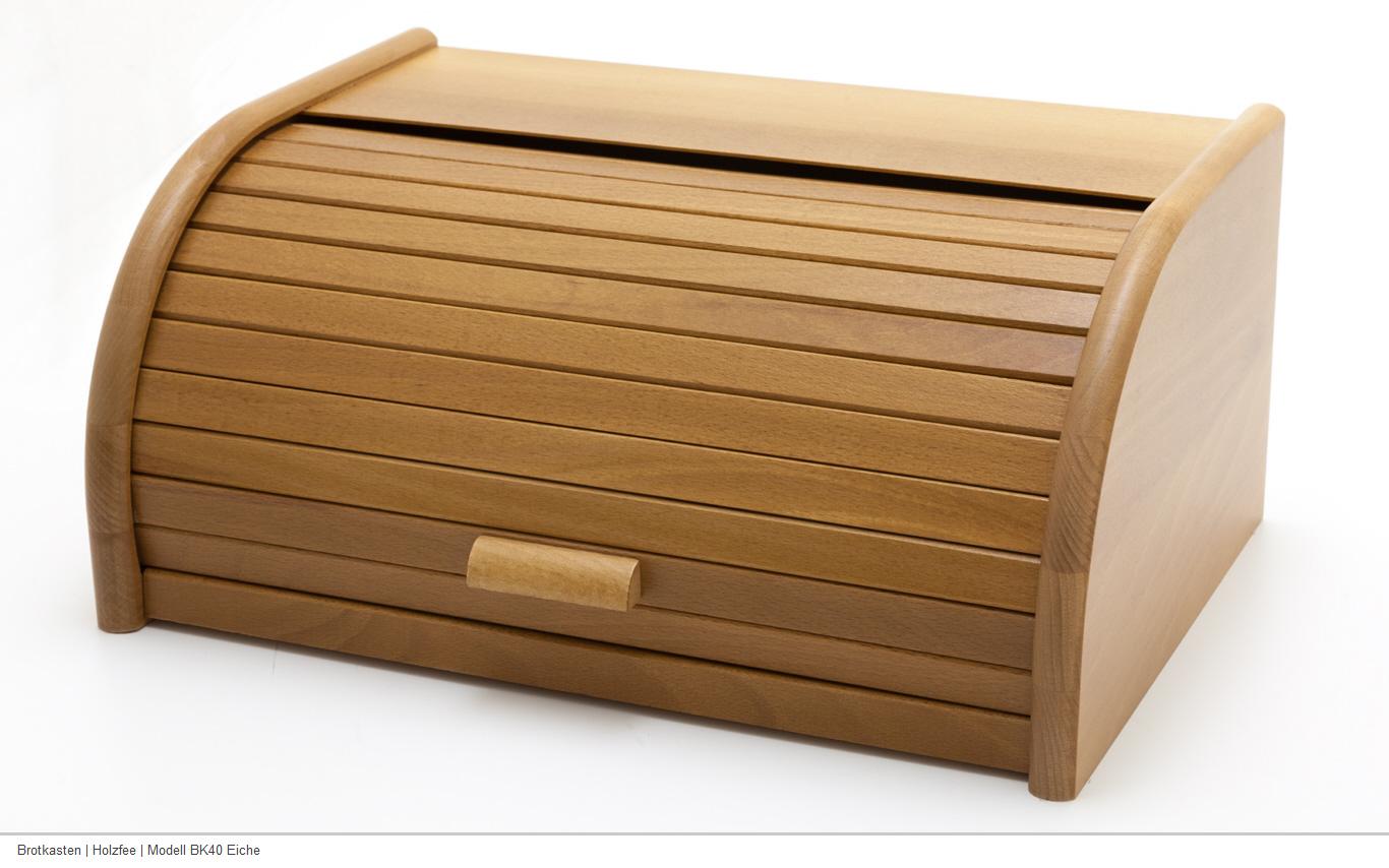 holzfee bk40 eiche brotkasten 40 cm holz brotbox. Black Bedroom Furniture Sets. Home Design Ideas